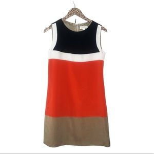 ☀️Roz & Ali Color Block Shift Dress Size 6